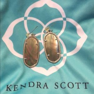 Metallic grey Kendra Scott earrings